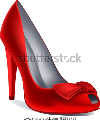 vector red shoe - stock vector