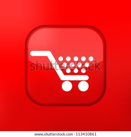Vector red Shopping icon. Eps10. Easy to edit - stock vector