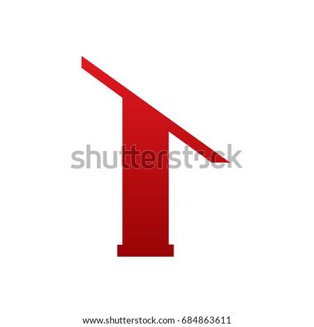 Vector Red Single Letter T Realtor Logo