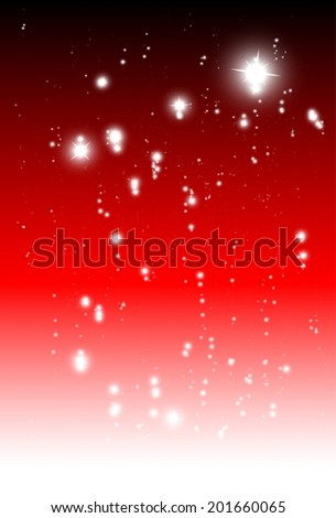 Vector red sparkle fall background vector template - Vector glitters and sparkles red background illustration - stock vector