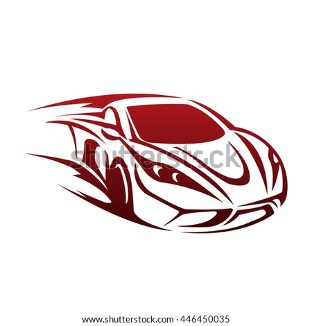 Vector Red Sport Car