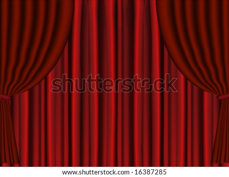 Vector Red Stage Theater Drapes