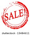 Vector red stamp with sale sign - stock photo