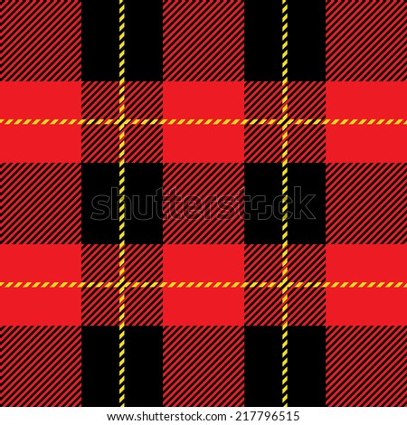 vector red tartan plaid  pattern for background  - stock vector