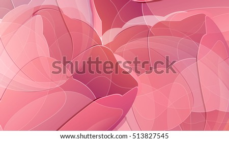 Vector red tulip flowers color background greeting card. Creative illustration for your banner, invitation or poster design