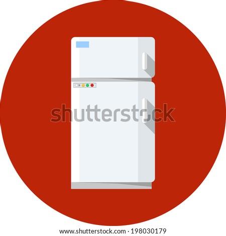 Vector Refrigerator  - stock vector