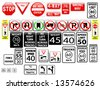 vector regulatory signs on the USA, part 1 - stock vector