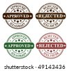 vector reject and approved stamps - stock vector