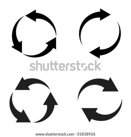 vector reload arrows - stock vector