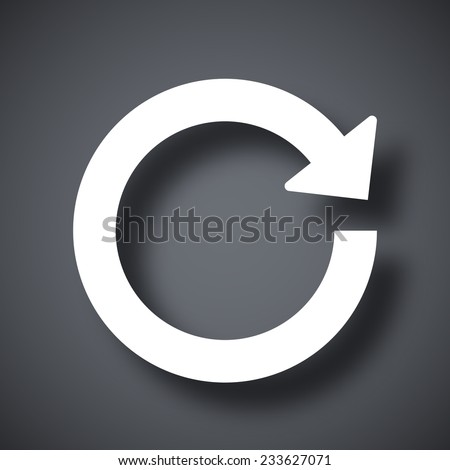 Vector reload icon - stock vector
