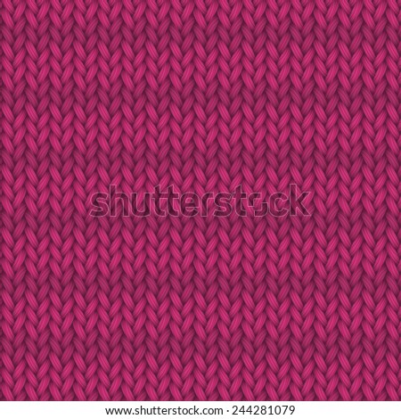 vector repeating pattern, knitted background - stock vector