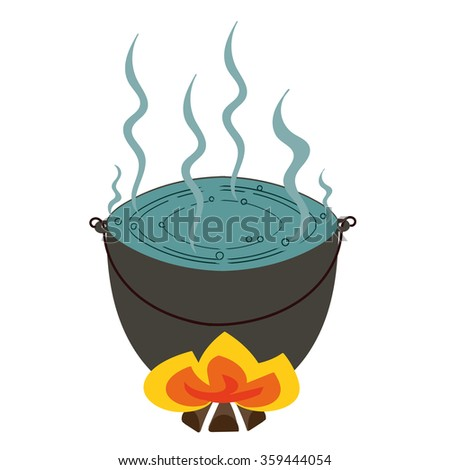 Vector Representing Tourist Pot Boiling Water Stock Vector ...