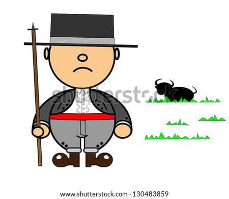 Vector representing Kiki dress of Andalusian gentleman - stock vector