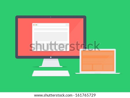 vector Responsive devices - stock vector