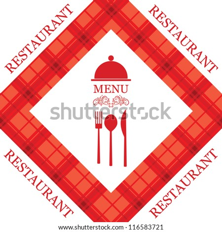 Vector restaurant menu - stock vector