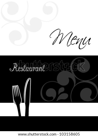 Vector restaurant menu design - template brochure - stock vector