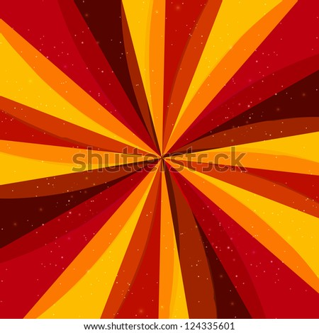 Vector retro abstract background with rays - stock vector