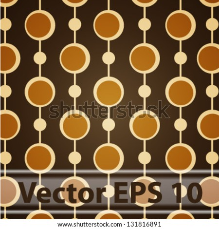 Vector retro background. Vintage seamless pattern - stock vector