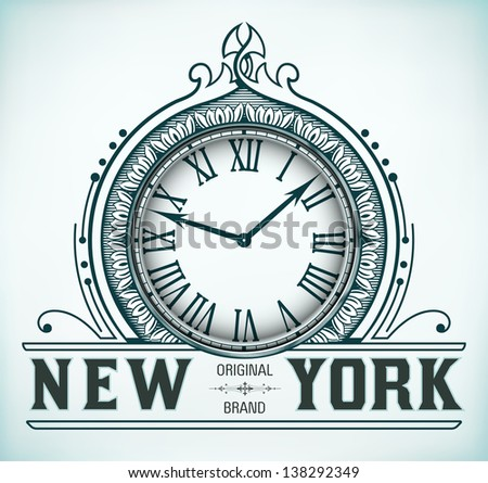 Vector. Retro design - stock vector