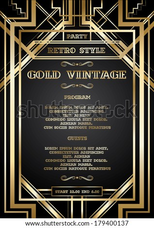Vector retro pattern vintage party gatsby stock vector 179400137 vector retro pattern for vintage party gatsby style stopboris Image collections