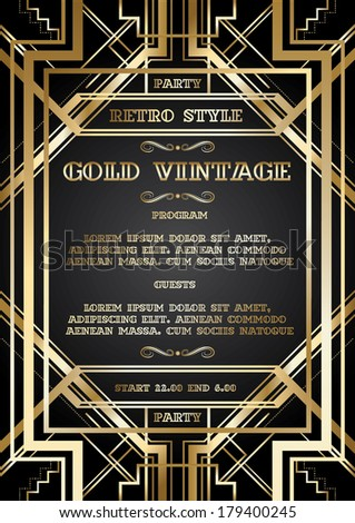 Vector retro pattern vintage party gatsby stock vector 215876095 vector retro pattern for vintage party gatsby style stopboris Image collections