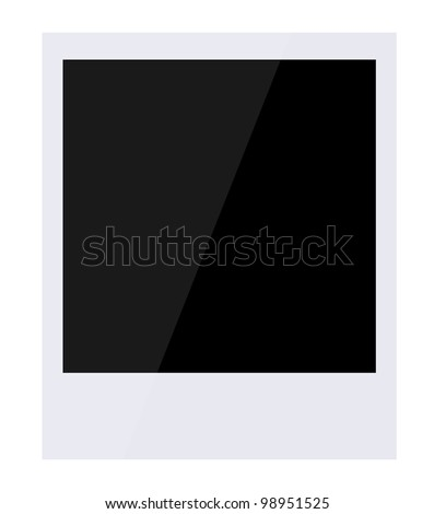 Vector retro photo frame isolated on white