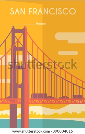 Golden gate bridge vector stock images royalty free Deco san francisco