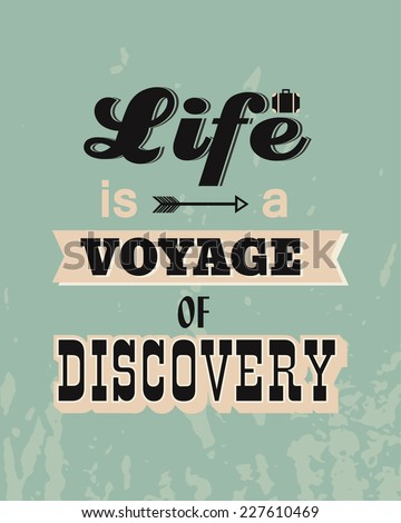 Vintage Quotes About Life Vector Retro Poster Vi...