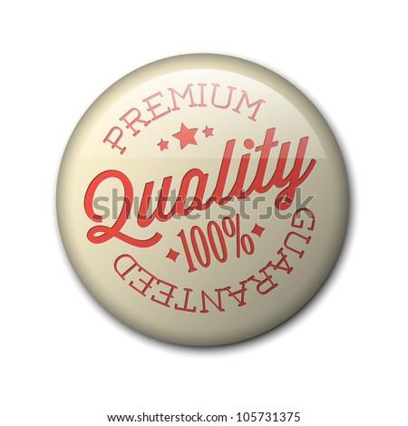 Vector retro premium quality red detailed badge - stock vector