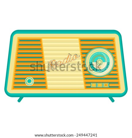 vector retro radio, retro appliances - stock vector