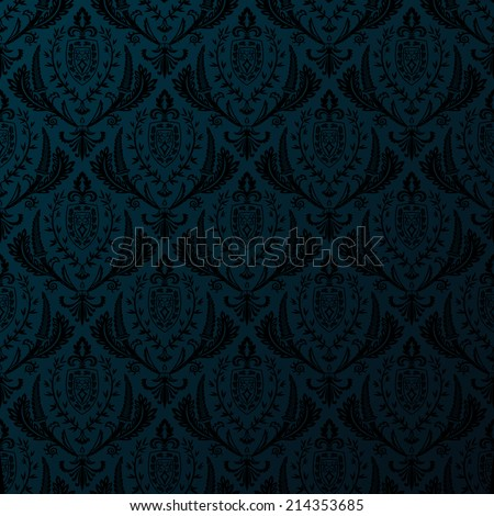 Vector retro seamless vintage wallpaper - stock vector