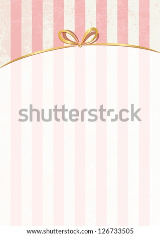 Vector retro stripped background with white label. Much space for your text and images. Sweet shop theme.