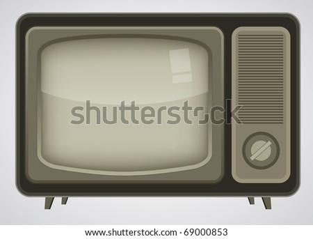 Vector Retro TV - stock vector