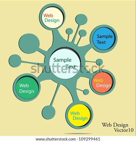 Vector retro web design bubble. - stock vector