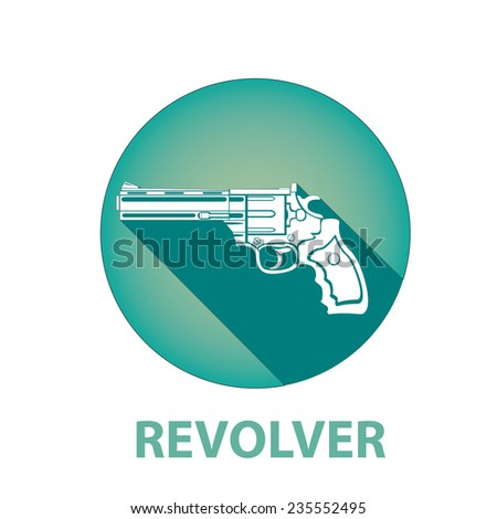 vector revolver icon. - stock vector