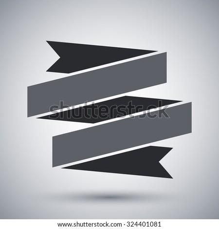 Vector ribbon banner icon - stock vector