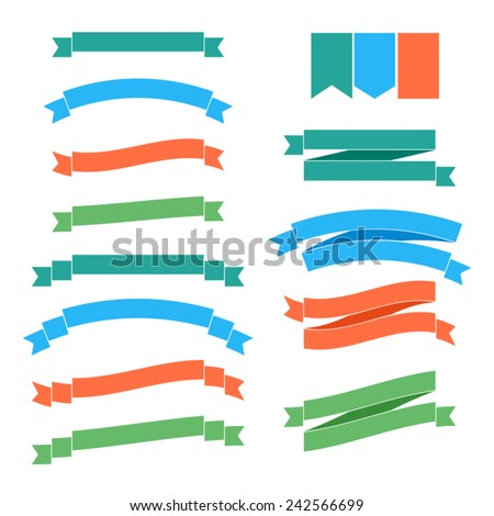 Vector ribbons - stock vector