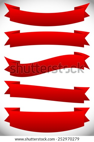 Vector ribbons, banners - stock vector