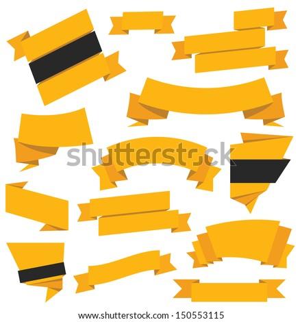 Vector Ribbons Set - stock vector