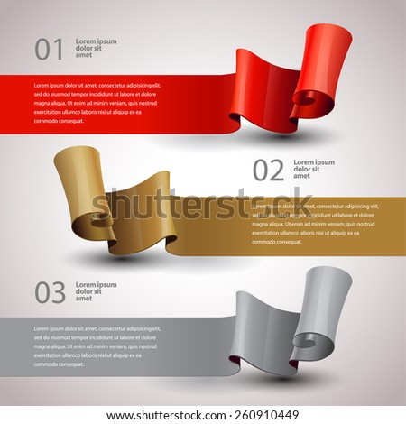 vector ribbons set. Design infographics template. vector Layout - stock vector