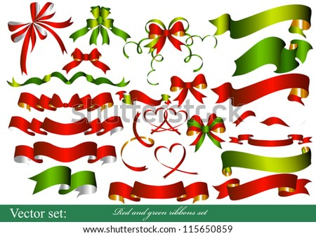 Vector Ribbons set for design. - stock vector