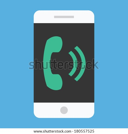 Vector Ringing Smartphone Icon - stock vector