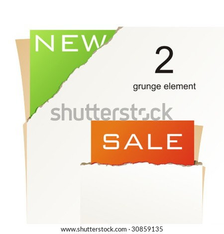 Vector ripped paper - abstract background - stock vector