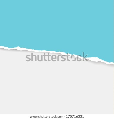 Vector ripped paper. Torn paper composition with place for your content. Sizable and editable wrapped paper. - stock vector