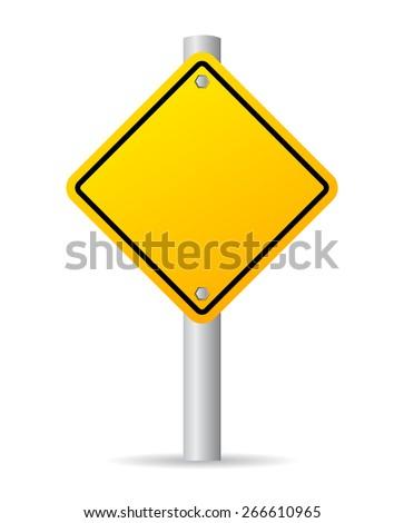 Vector road sign - stock vector