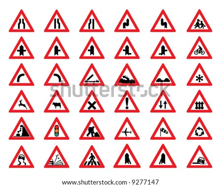 vector road sign icons