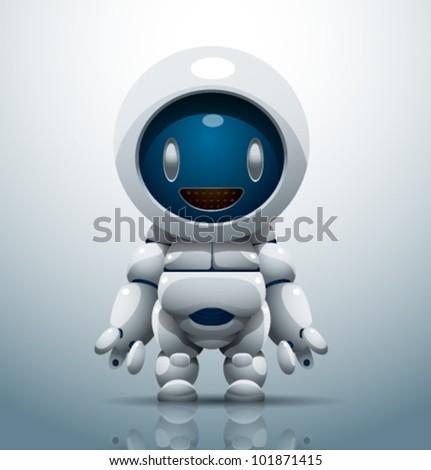 vector robot 7 - stock vector