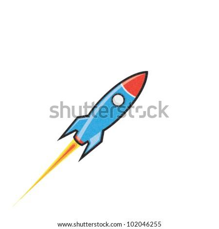 Vector Rocket Icon - stock vector