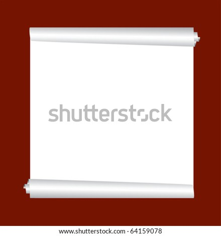 vector roll of the paper - stock vector