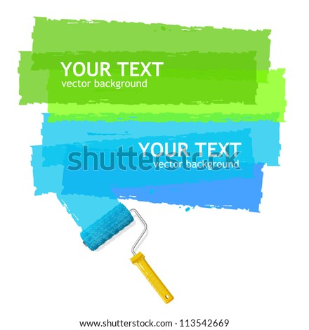 Vector roller brush for text